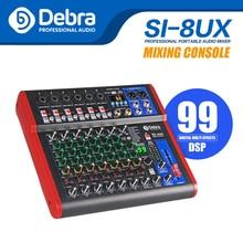 Interfaccia Audio Mixer Debra Pro a 8 canali per Controller Console di missaggio DJ Studio di registrazione Karaoke con 99 effetti digitali DSP