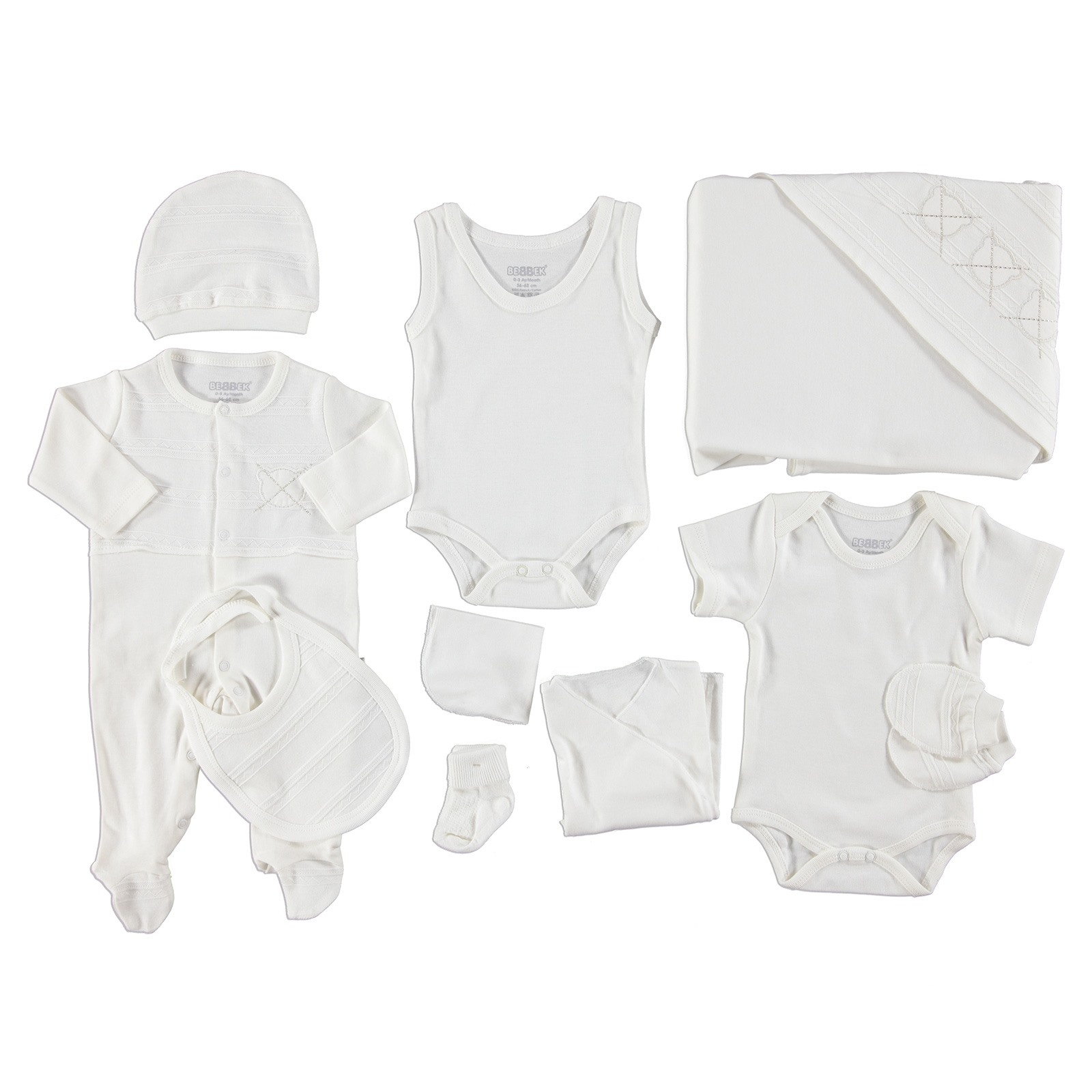 Ebebek Bebbek Bear Boy Newborn Baby Hospital Pack 10 Pcs