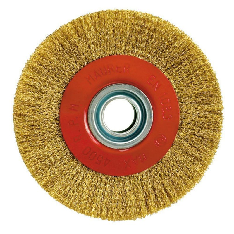 Steel Brush Brass Plated Circulate Ø 150x29mm.
