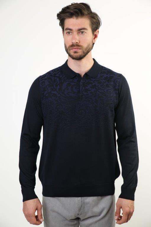 Sweater Polo Collar Male Sweater 4346