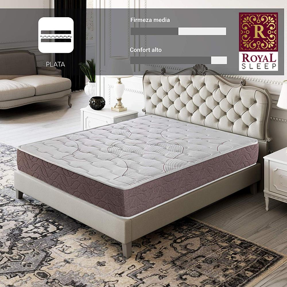 Royal Sleep Dormant Plus Mattress Visco Carbono 22 CM Tall Firmness Half And Adaptability High Furniture Bedrooms Beds
