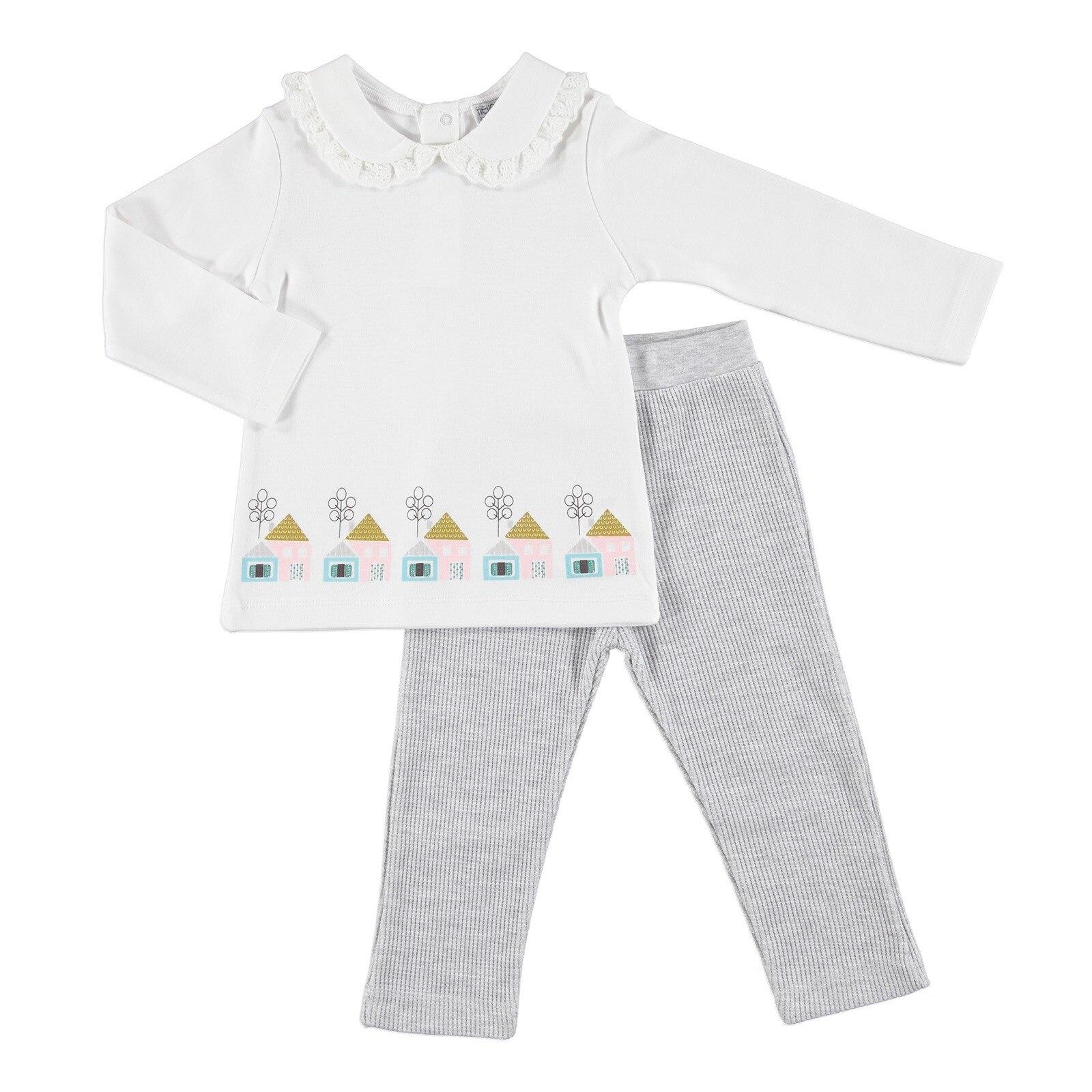 Ebebek HelloBaby Sweet House Baby Sweatshirt Trouser Set