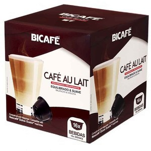 Coffee with decaffeinated bicafe milk, 16 compatible capsules Dolce Gusto