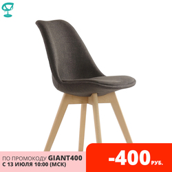 95736 Barneo N-22 kitchen chair seat fabric dark brown chair for living room table chair dining chair furniture for kitchen