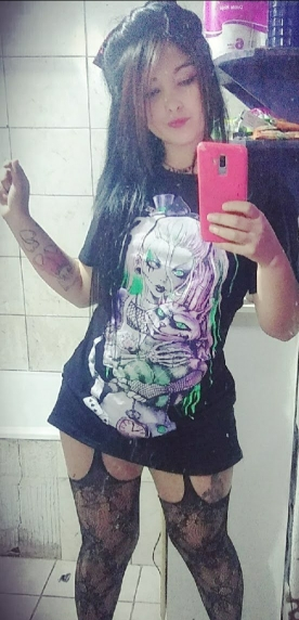Gothic T-shirts with Cartoon print photo review