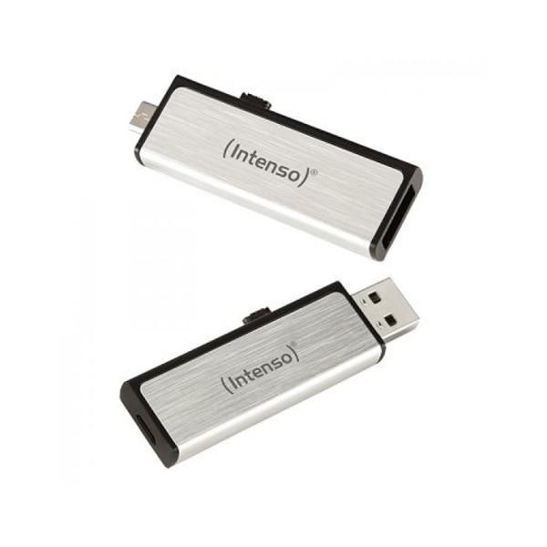 USB and Micro USB Memory Stick INTENSO 3523470 16 GB Silver USB Flash Drives    - title=