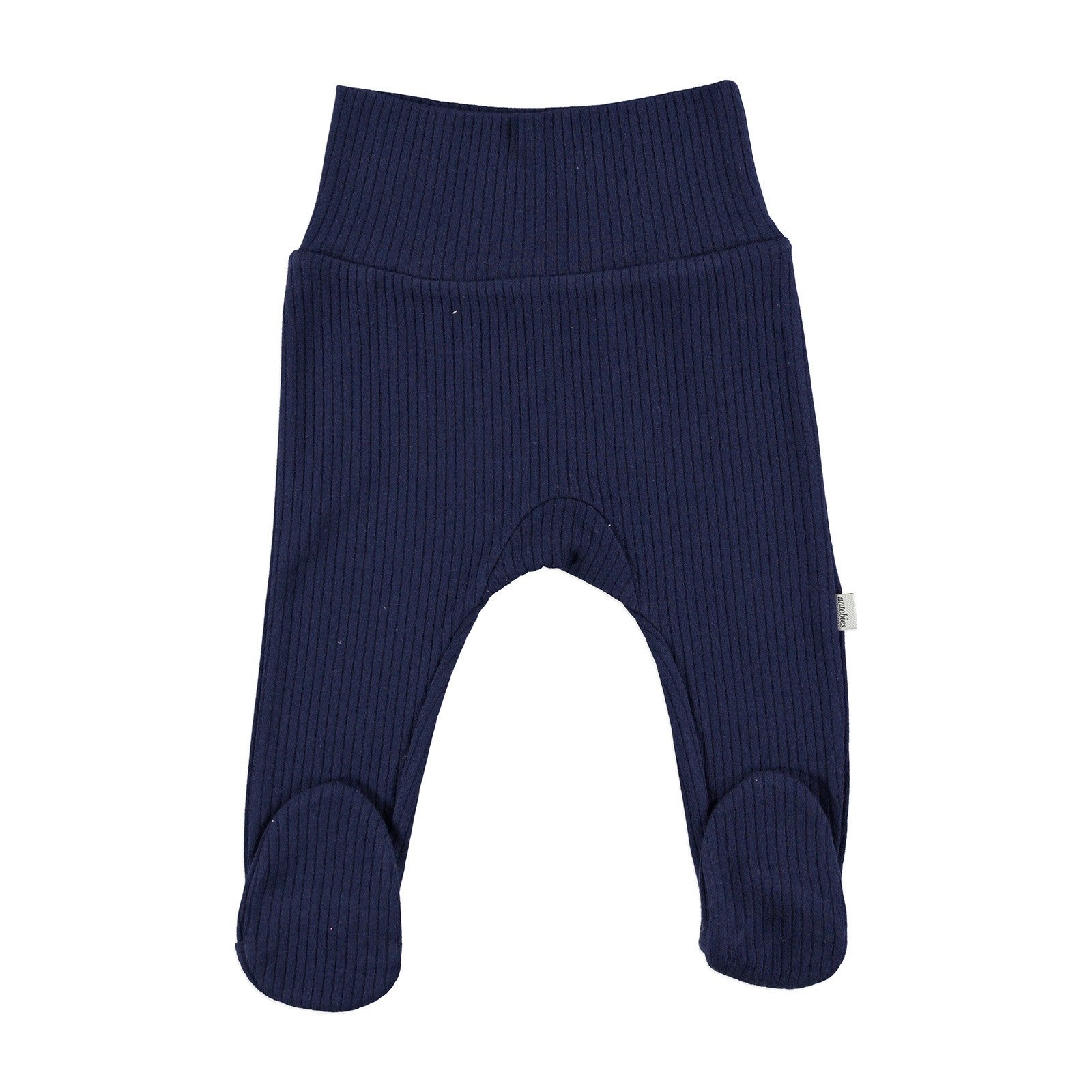 Ebebek Antebies Baby Organic Navy Blue Reported Rib Pants