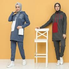 Sports hooded tracksuit and a Muslim headscarf Hijab Part 2 turkey Dubai Women's Fashion Trends arabia 100% Made in Turkey New