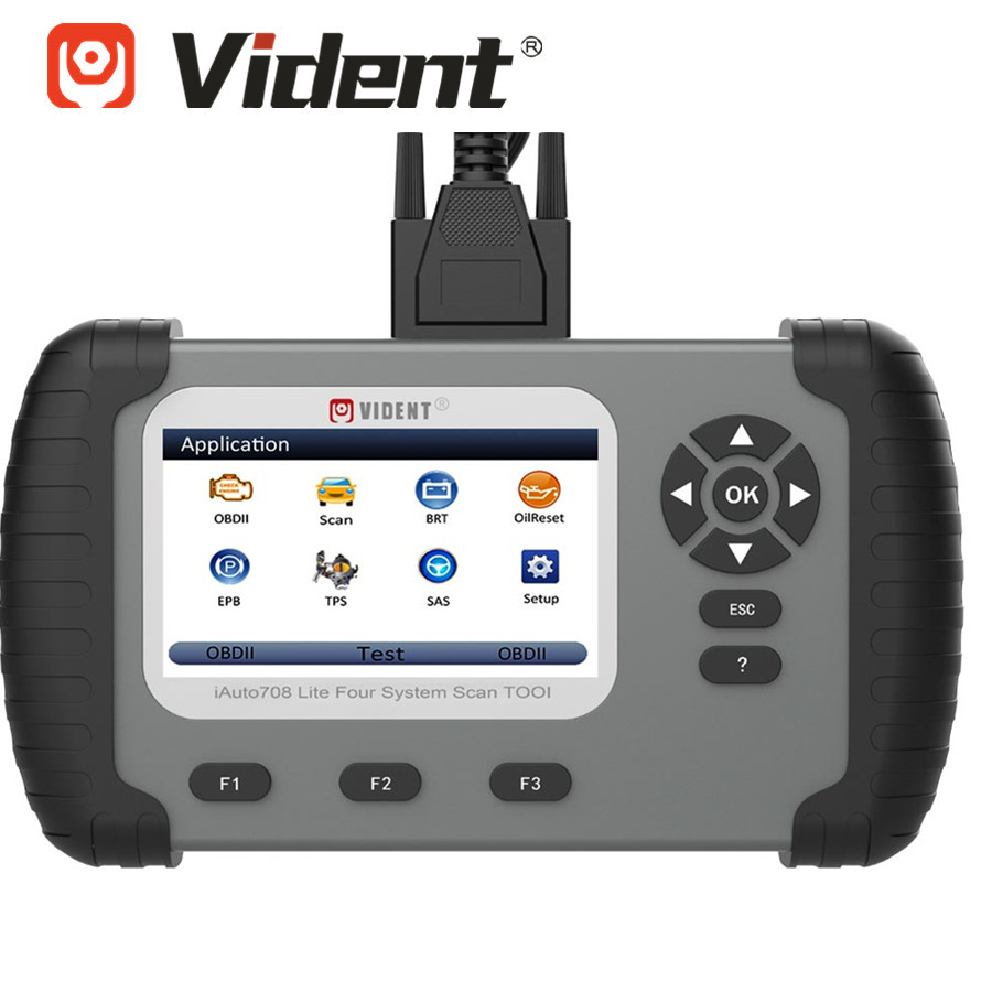 VIDENT IAuto708 Lite Four System Scan Tool ( Engine,AT,ABS,SRS) And Special Functions Oil Light  Service/Reset / EPB/SAS