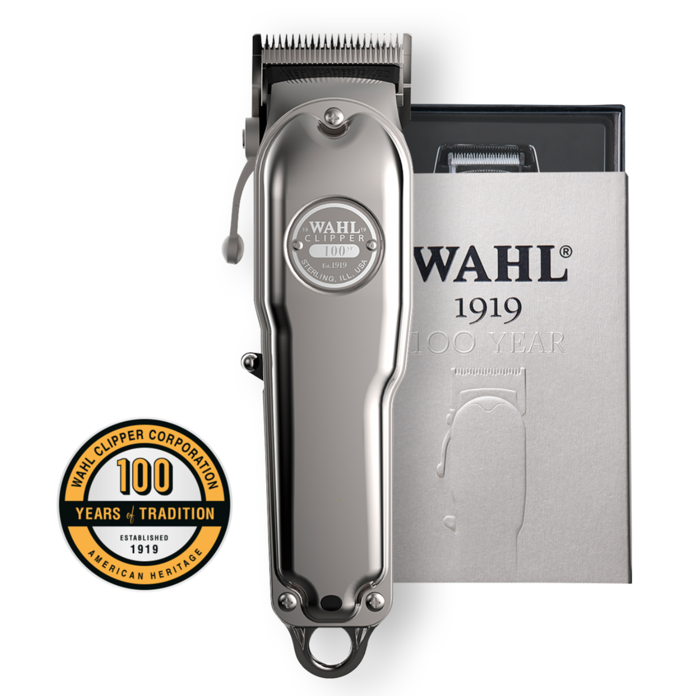 Wahl 1919 Pro 100 Year Anniversary Limited Edition Cordles Hair Clipper Trimmer, Hair Cut Kit, Hair Cutting Machine, Shaver