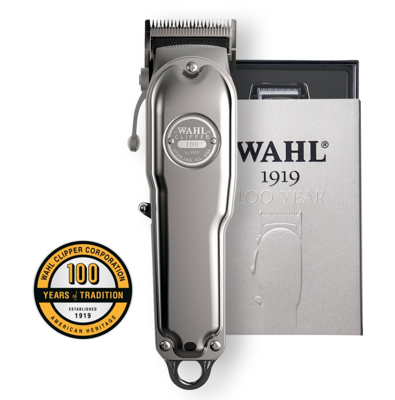 Wahl 1919 Pro 100 Year Anniversary Limited Edition Cordles Hair Clipper Trimmer, Hair Cut Kit, Hair Cutting Machine, Shaver