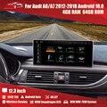 Автомагнитола для Audi A6 A7 2012-2018, android 11, 12,3 дюйма, GPS-навигация, мультимедийная Автомагнитола для AUDI A6 C7 A7 4G LET