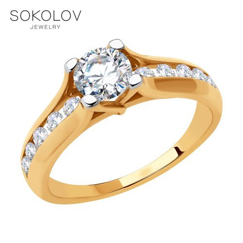 SOKOLOV Ring Gold Fashion Jewelry 585 Women's Male