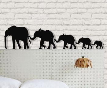 Metal Elephant Wall Art Big Elephant Family Wall Silhouette Metal Wall Decor Home Decoration Bedroom Decor Metal Decor Sculpture