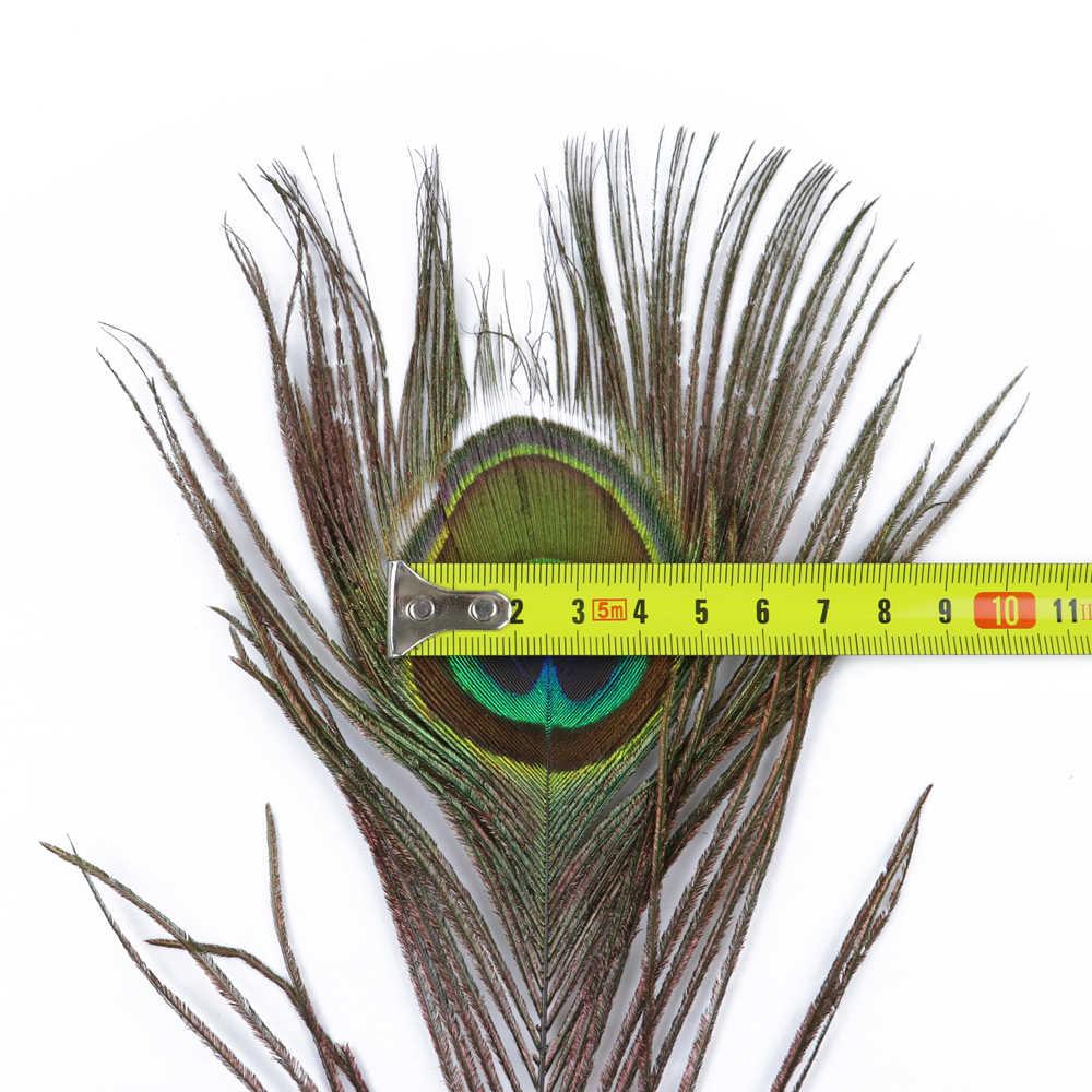 Wcfeathers 50 Con Natual Thực Hình Chim Công Đôi Mắt To 25-80 Cm Cưới Nhà Bàn Tâm Điểm Trang Trí Lông Sỉ