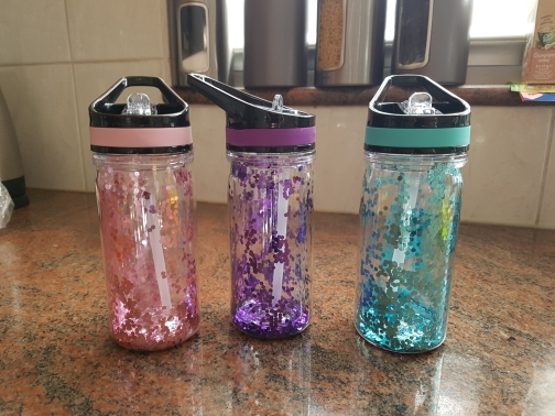 750ml/25oz 100%Tritan Sports Outdoor Straw Water Bottle With Flamingos&Unicorn Printing My Drink Juice Handle Straw Kettle-in Water Bottles from Home & Garden on AliExpress