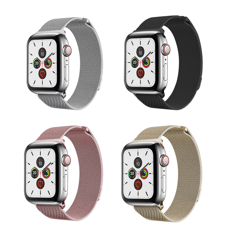 Apple Watch Strap Stainless Steel Apple Watch Band 44mm Apple Watch Band 42mm Metal Strap Custom Magnetic