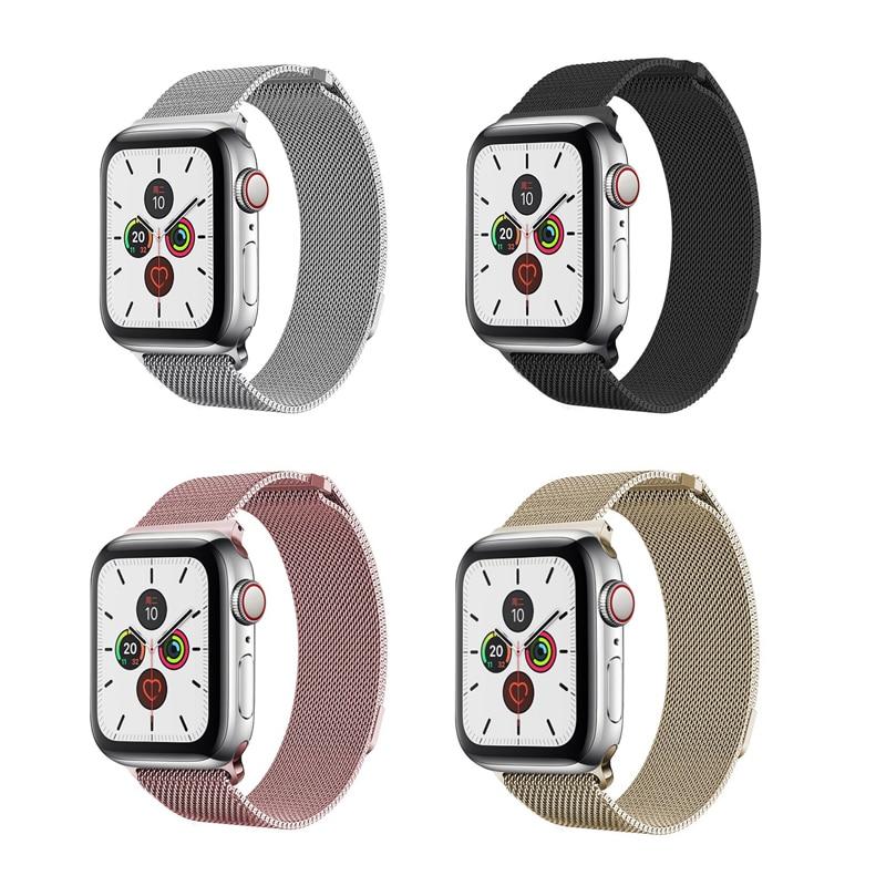 Apple Watch Strap Stainless Steel Apple Watch Band 44mm Apple Watch Band 42mm Metal Strap Custom Magnetic