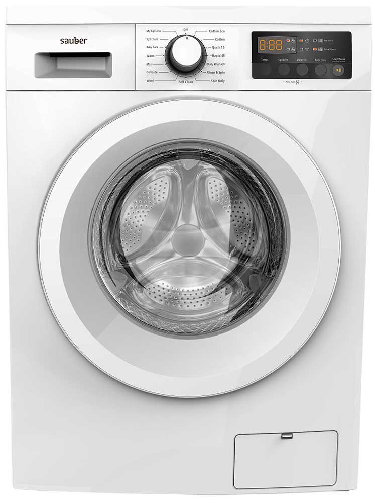 Washing Machine Front Load Sauber Wm814 8 Kg 1400 Rpm A + + + White