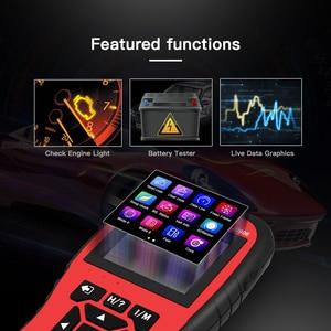 Image 2 - Автомобильный сканер двигателя TopDiag OBD2 JD906, считыватель кодов автомобиля, диагностический инструмент, очистка кода неисправности, проверка смога, батарея, тест TFT цветной экран