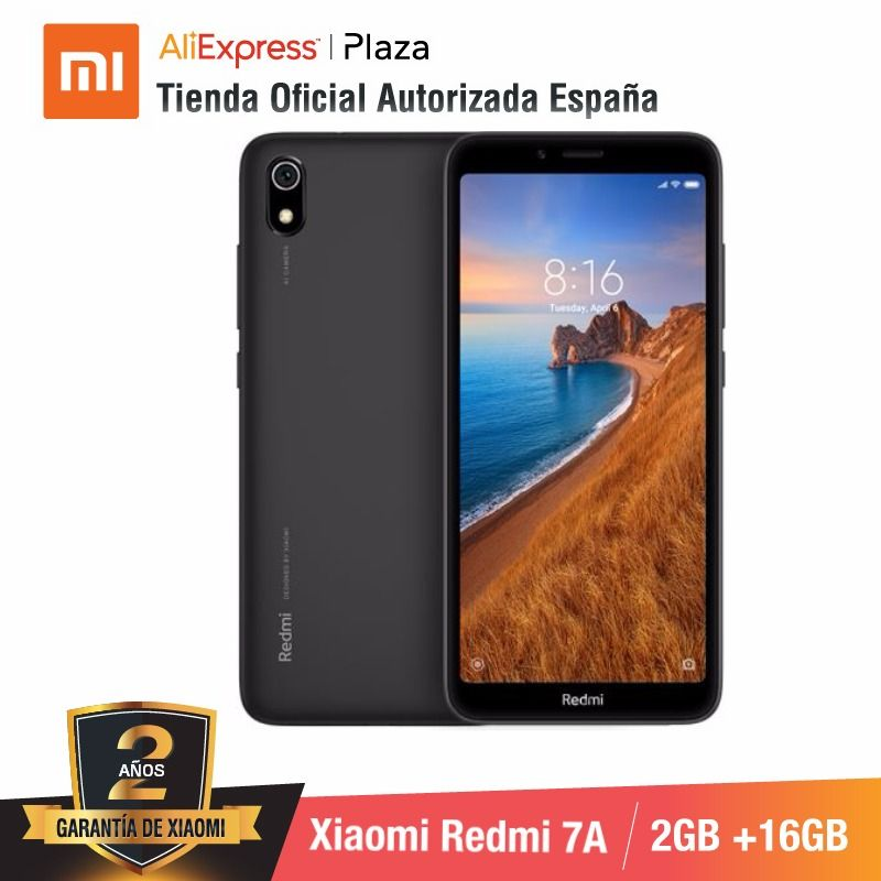 [Global Version For Spain] Xiaomi Redmi 7A (Memoria Interna De 16GB, RAM De 2GB, Camara De 13MP+5 MP) Movil
