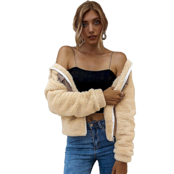 Women Jacket Coats Autumn Winter Warm Pocket Stitching Jacket Loose Fashion Long Sleeve Coats Women Casual All-Match Outerwear 2020 new fashion bandage jacket women long sleeve outerwear coats button zipper black celebrity party short jacket women