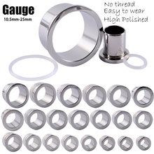 1PC 316L Surgical Steel Ear Taper Expander Stretching No Thread Ear Gauges Easy to Open Holes Ear Tunnel Plugs Piercing Jewelry