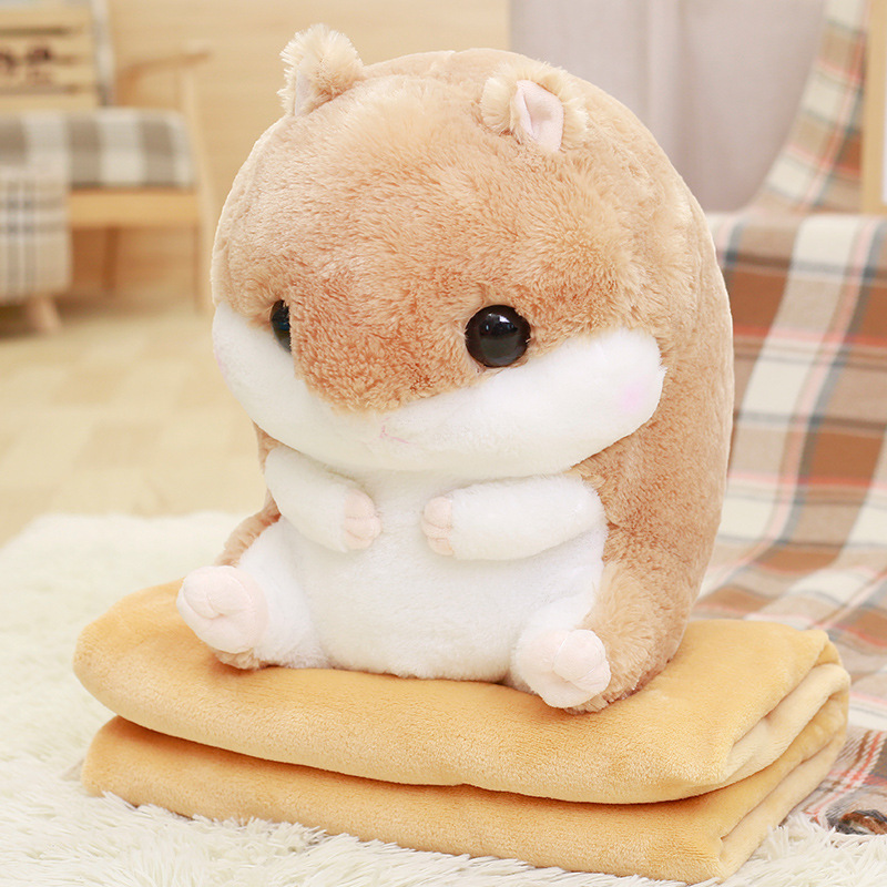 Hamster Pillow Toy 3 In 1 With A Blanket (blanket) Inside