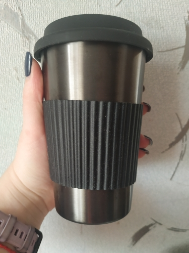 Soffe Coffee Mug With Cup Sleeve 350ml 500ml Titanium Travel Mugs Portable Food Grade Stainless Steel Drink Water Bottle|Water Bottles|   - AliExpress
