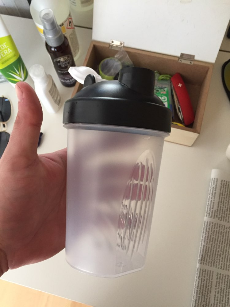 400ml protein powder shake cup direct drinking sports water bottle portable outdoor fitness fruit juice bottle Water Bottles     - AliExpress