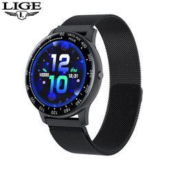 LIGE 새로운 스포츠 똑똑한 시계 남자 다기능 스포츠 심박수 혈압 적당 추적자 IP68 방수 Smartwatch 남자