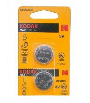 Pilas de boton Kodak bateria original Litio CR2025 3V en blister 2X...