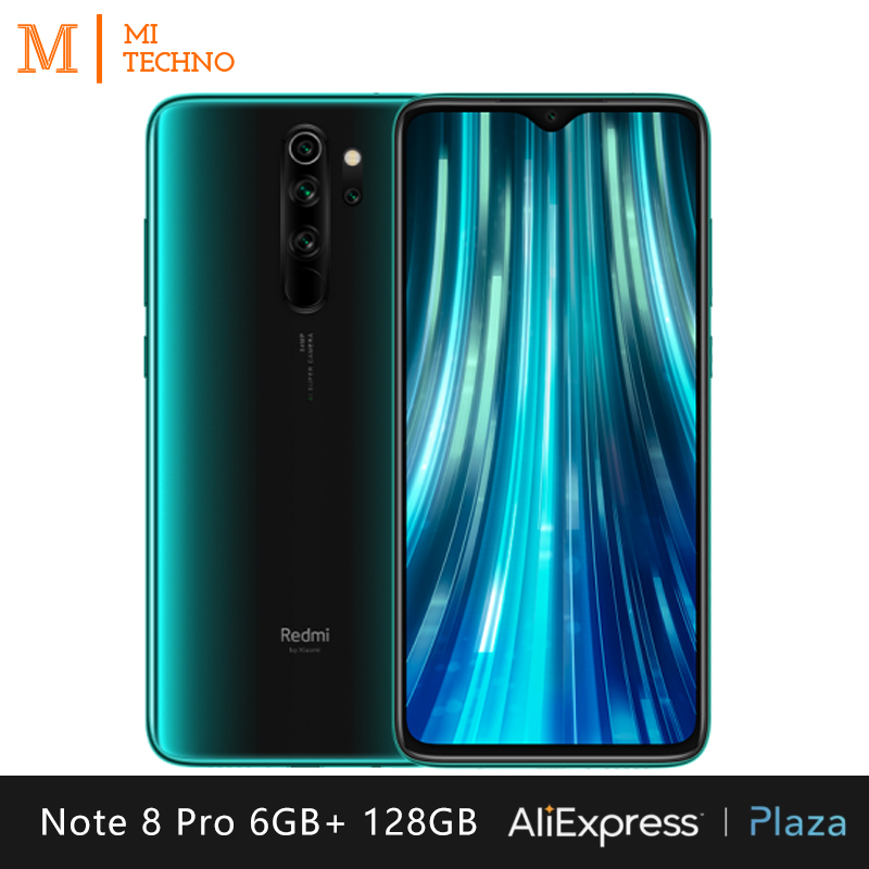 Xiaomi Redmi Note 8 Pro Smartphone (6GB RAM 128GB ROM mobile phone, free, new, NFC, quad camera 64MP) [Global Version]