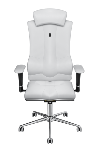 Office Chair KULIK SYSTEM ELEGANCE White Computer Chair Relief And Comfort For The Back 5 Zones Control Spine