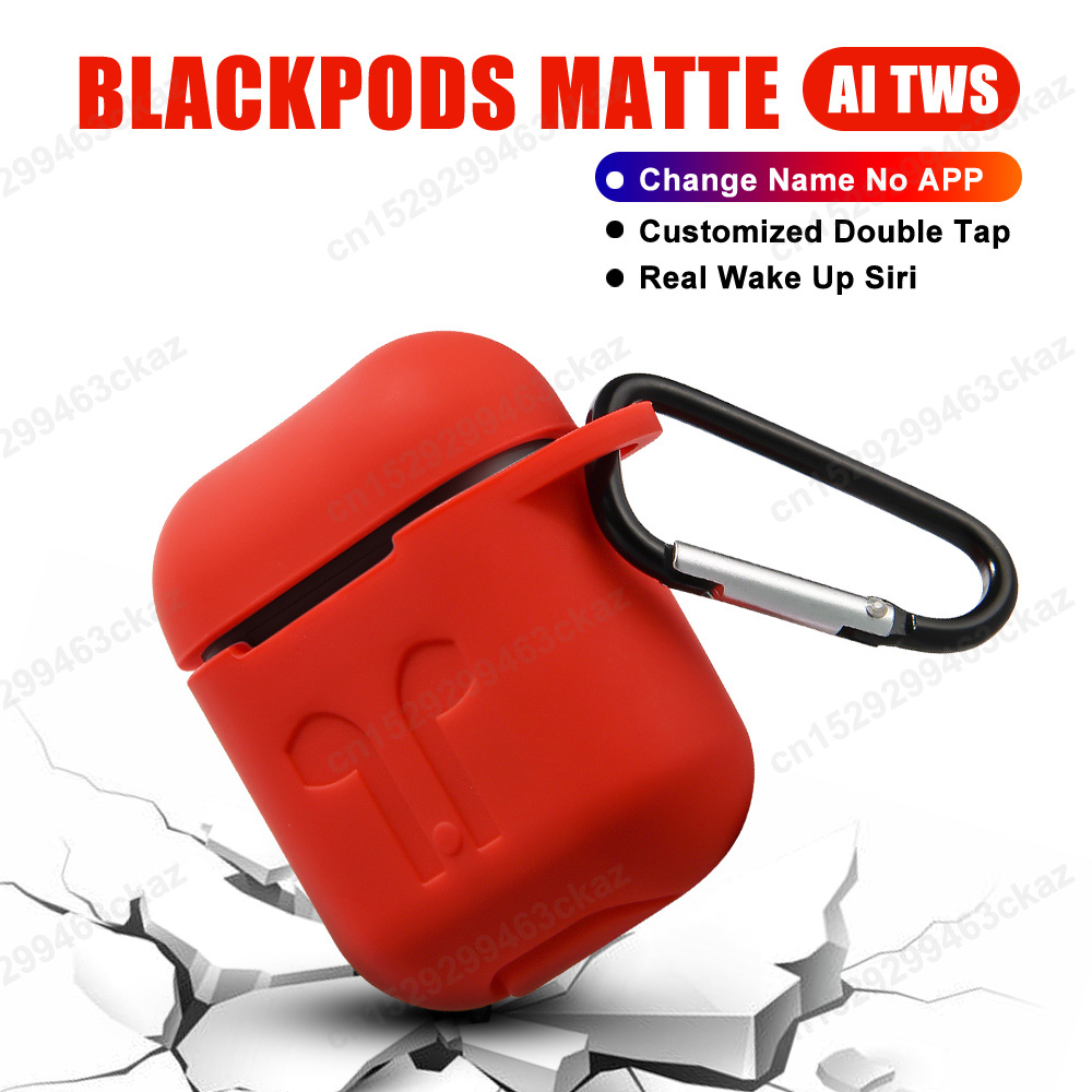 <font><b>TWS</b></font> Blackpods Matte Change Name Bluetooth Headphone Wireless Earphone In ear Detection PK i7s i9s <font><b>i10</b></font> i12 i200 i9000 i100000 <font><b>tws</b></font> image