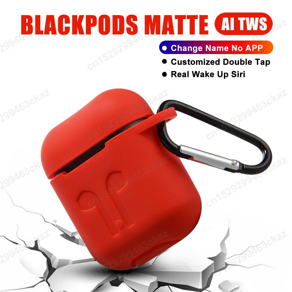TWS Blackpods mat changement de nom Bluetooth casque sans fil écouteur dans la détection de l'oreille PK i7s i9s i10 i12 i200 i9000 i100000 tws