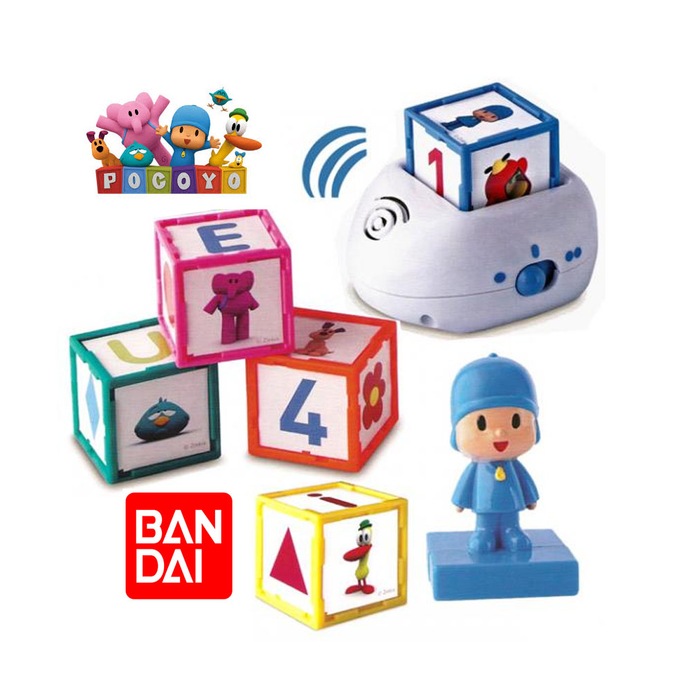 POCOYO BANDAI LEARNS LAUGHING 5 Made Hub S 'S INTERACTIVE AND ONE FIGURE POCOYO TOYS AND DISCOVER Made Hub WITH SPEAKER 30DIVERTIDOS DRAWINGS