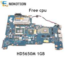 Nokotion k000103790 nalaa LA-6042P placa principal para toshiba satélite l670 computador portátil placa-mãe hd5650m 1 gb hm55 ddr3 cpu livre