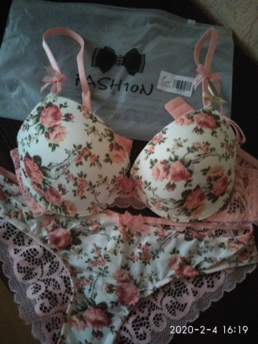 Famous Brand Sexy High Quality Women Print Bra set Silk Lace Flower Push up Big size Underwear Bow Bra and Hollow out Panties|women print bra set|bow brabra set - AliExpress