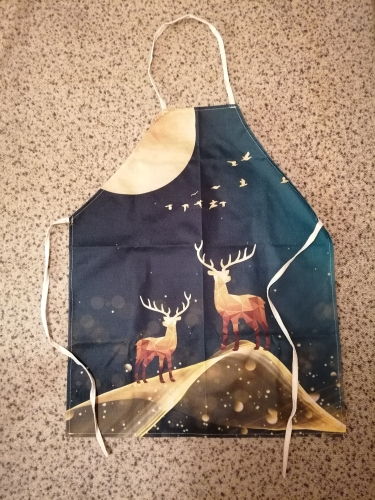 Golden Butterfly Deer Kitchen Apron photo review