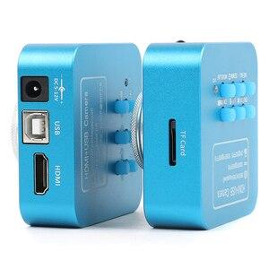 Image 5 - FHD 36MP อิเล็กทรอนิกส์กล้องจุลทรรศน์ดิจิตอลกล้อง HDMI USB กล้องจุลทรรศน์ดิจิตอล Boom Stannd 180X/300X ซูมเลนส์ C mount 144 LED Light