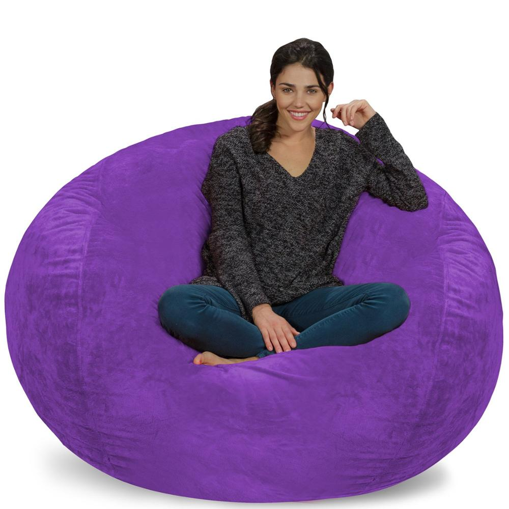 top Selling Extra Large 4 Bean Bag font b Chair b font Covers Replacement Comfy Beanbag