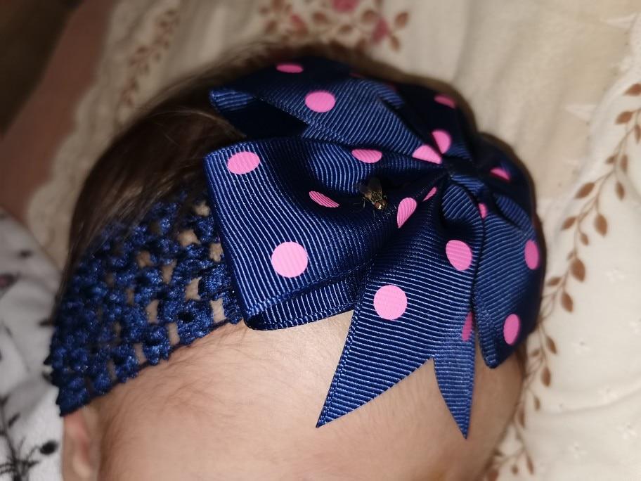 1 Piece MAYA STEPAN Children Dot Dovetail Bow Wide Hair Head Band Headdress Accessories Baby Newborn Headband Headwear Headwrap