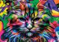Nova 41125-1000, детали, кошачий пазл с злыми глазами-Кот, расстроен, милый, красочный