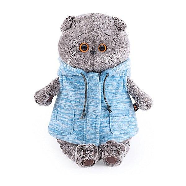 Soft Toy Budi Basa Cat Bass In Blue Vest 19 Cm