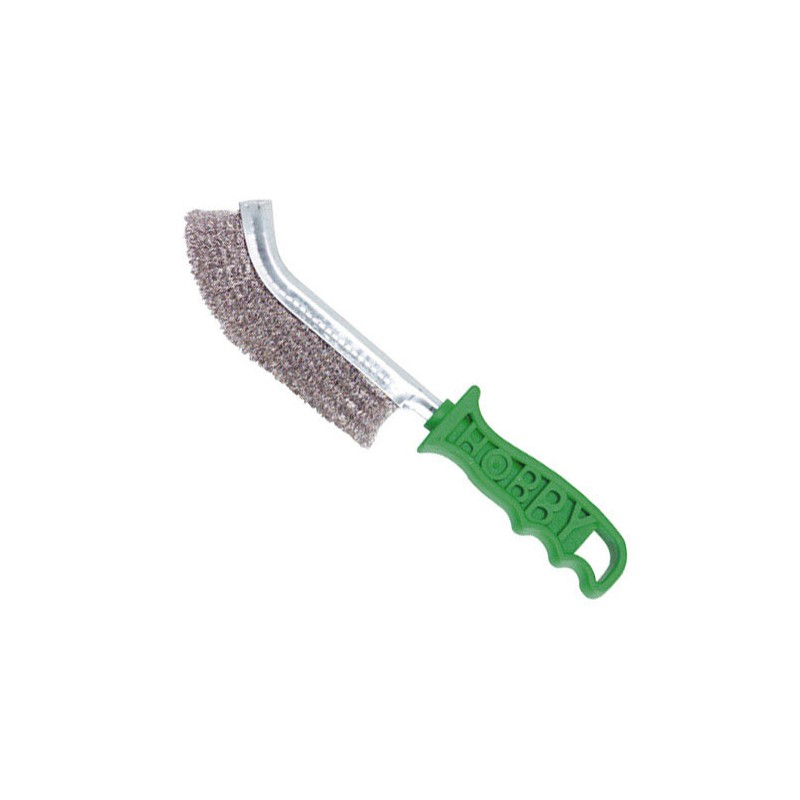 Manual Brush Stainless Steel Handle Green