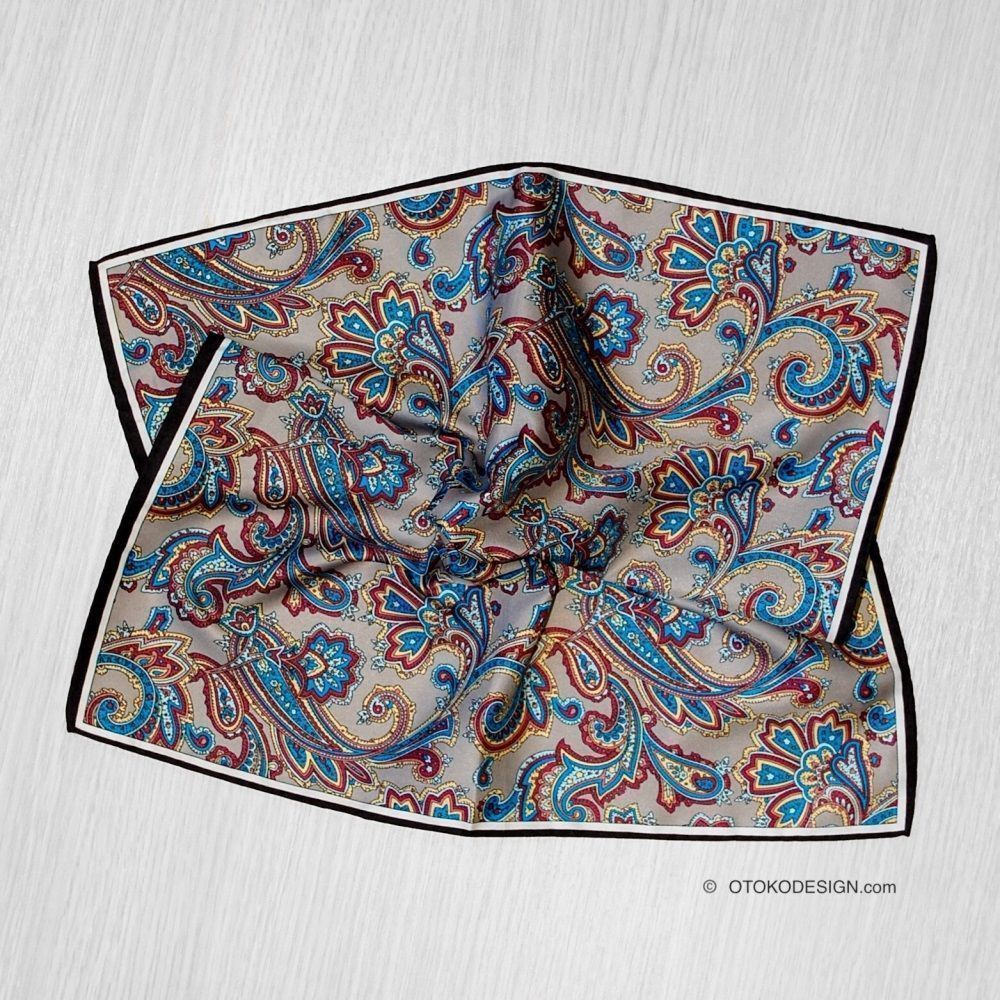 Silk Shawl In A Jacket Pocket With Cucumber Texture (52886)