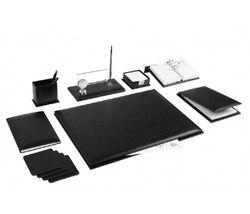 Лара Офис Бизнес 8 шт. кожаный стол Pad набор стол набор и кристалл табличка имя табличка тег главный Органайзер