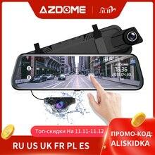 """Azdome PG02 10 """"Spiegel Dash Cam Streaming Media Full Scherm Aanraken Adas Dual Lens Nachtzicht 1080P voor 720P Backup Auto Dvr"""