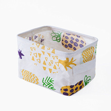 Colorful Desktop Storage Basket High Quality Cotton Linen Underwear Clothing Organizer Case Sundries Storage Box Hot Sell Cactus